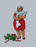 Enigmus T 3 tante Rosa et son dauphin en peluche