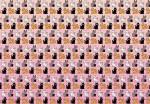 Sur ces pages de garde pleines de chats, tous sont identiques, sauf un... Peux-tu le retrouver sans l'aide de Violette ?