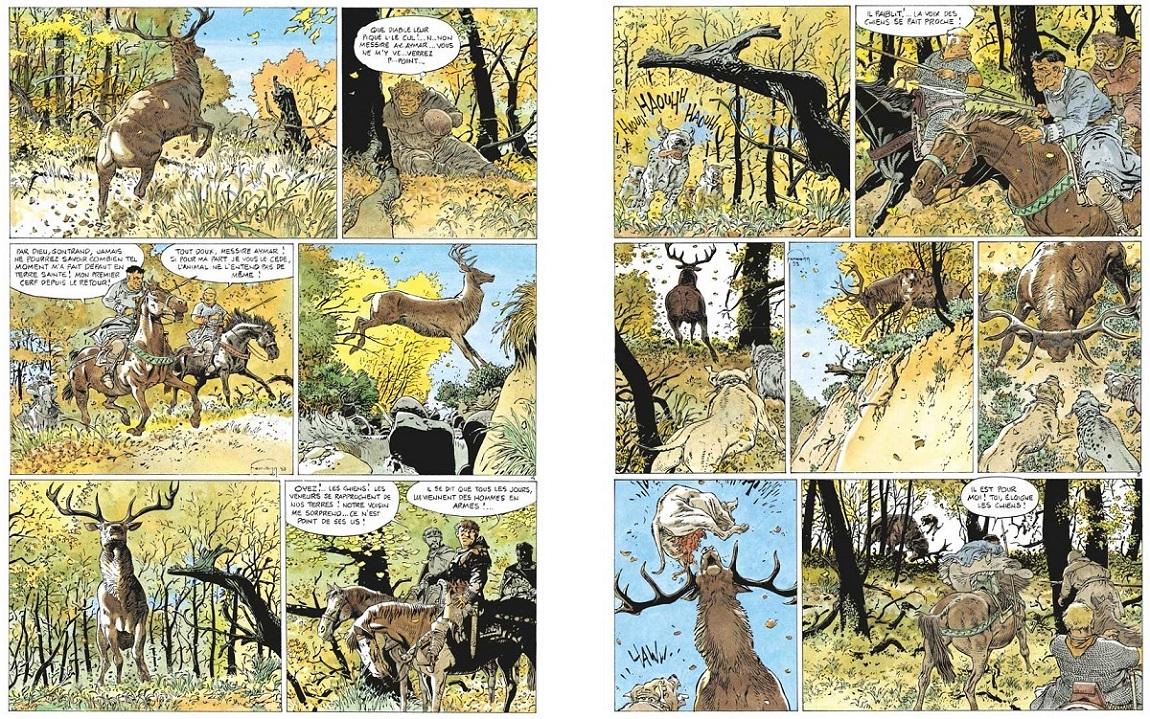Aymar de Bois-Maury chasse le cerf