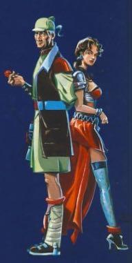 Dessin du verso d'« Une fragrance de cadavre », édition 1995.