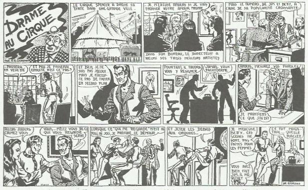 « Drame au cirque » : huit pages parues en 1948 aux éditions Public-Vog.