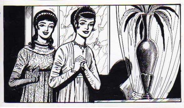 Illustration pour un magazine destiné aux filles, publié par Aredit.