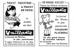 Deux encarts publicitaires pour Vaillante (1946).