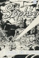 Dessin original de la couverture du « Tombeau des Glyphes ».
