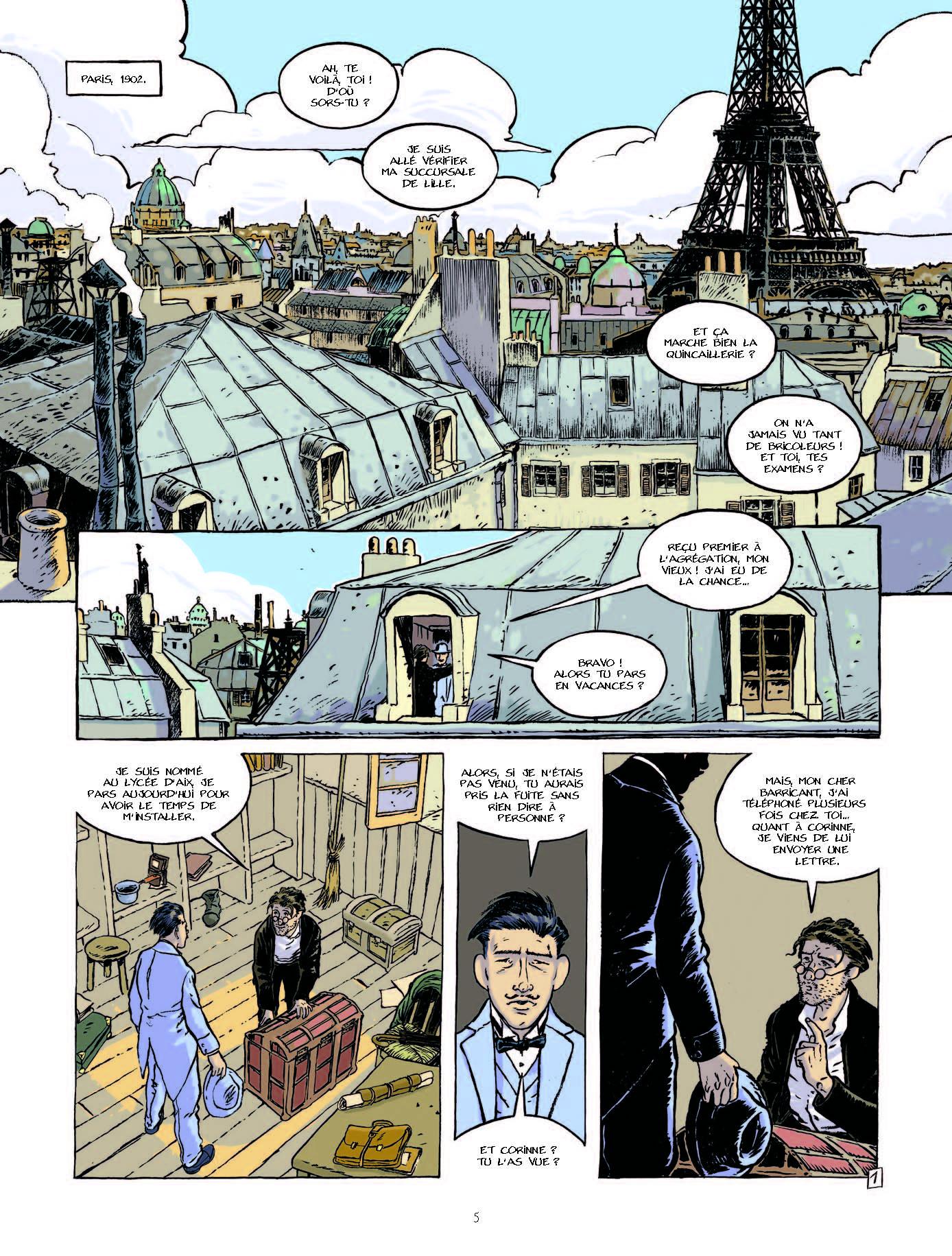 Sous les toits de Paris (planche 1 - Grand Angle 2017)