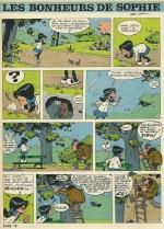 Le premier des « Bonheurs de Sophie » dans le n° 408 de Spirou daté du 8 avril 1965.