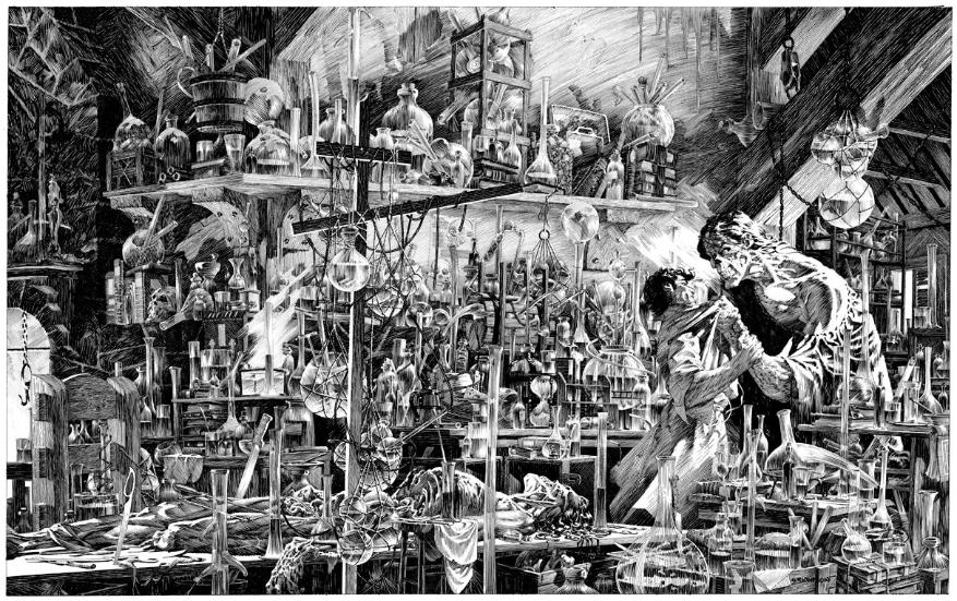 Une image du « Frankenstein » de Bernie Wrightson.