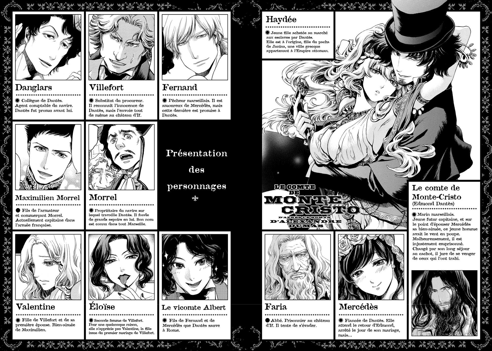 monbte-cristo-manga-personnages