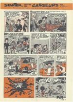 Dernière planche de « Starter contre les casseurs » parue en bichromie dans Spirou n° 1234 du 7 décembre 1961.