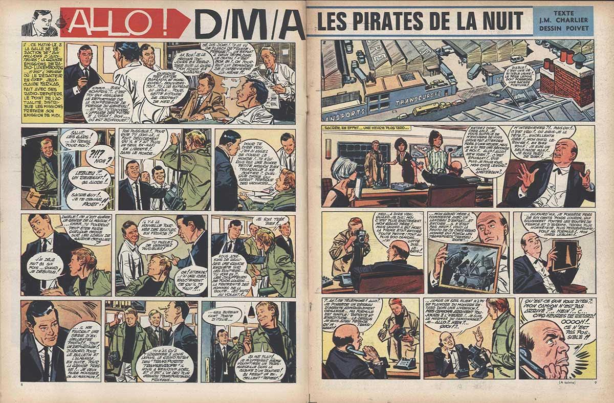 « Les Pirates de la nuit » dans Pilote.
