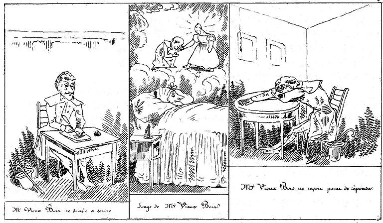 « Amours de M. Vieux-Bois » par Rodolphe Töpffer.