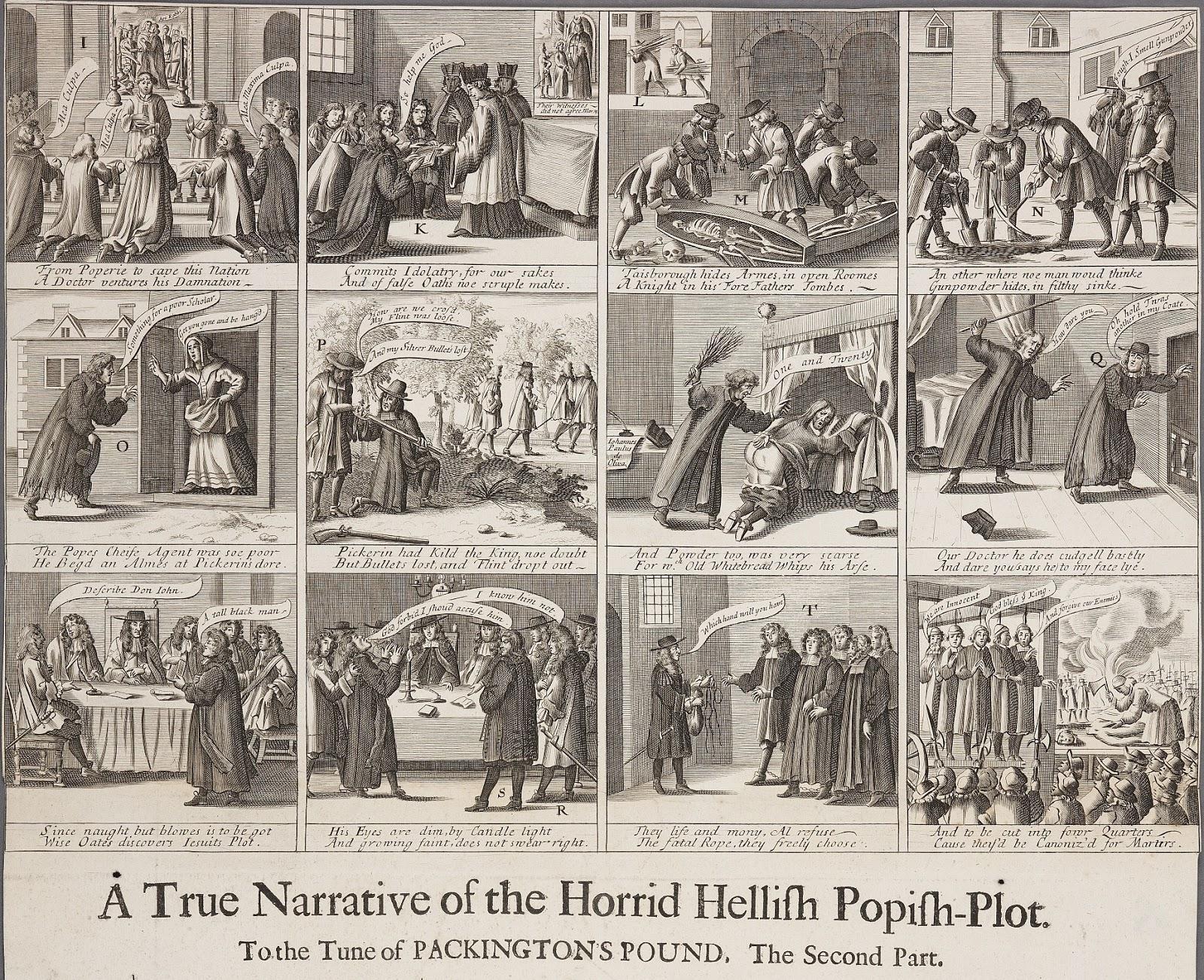 « The Horrid Hellish Popish Plot' » par Francis Barlow, en 1682.