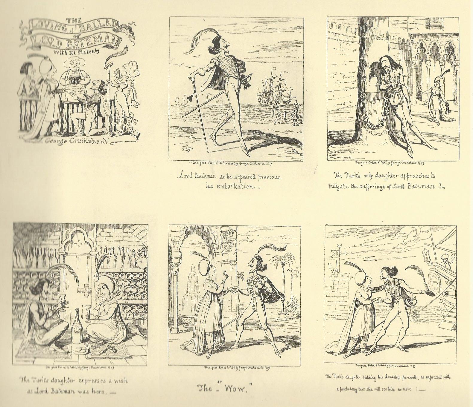 « The Loving Ballad of Lord Bateman » par George Cruikshank.
