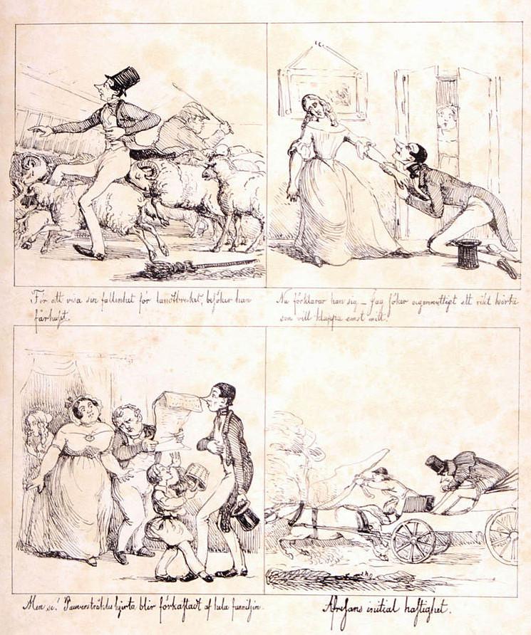 « Ett Frieri » par Fritz von Dardel.