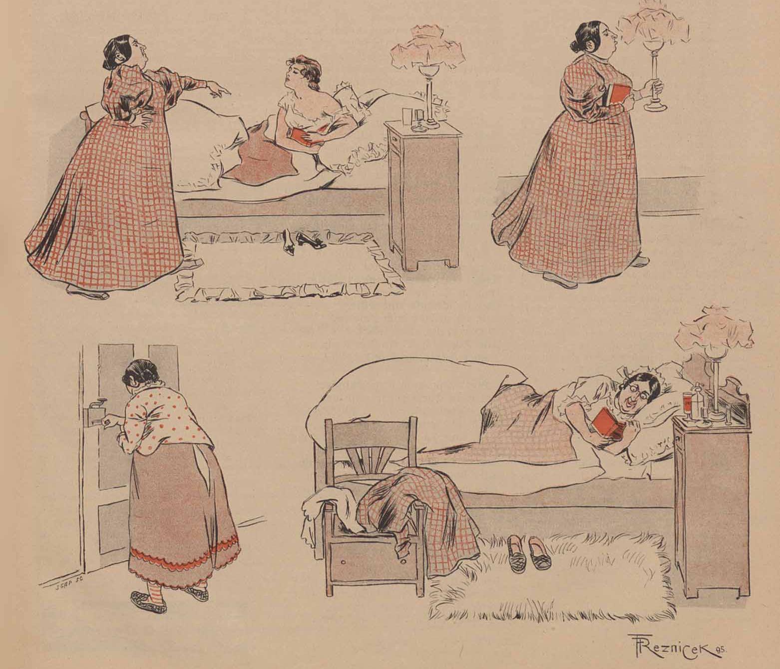 Une histoire muette en images par Ferdinand von Rezniček, dans Simplicissimus.