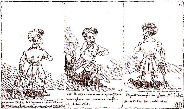 « Histoire de M. Jabot » par Rodolphe Töpffer.