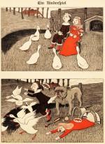 Une histoire muette en images par Thomas Theodor Heine, dans Simplicissimus.