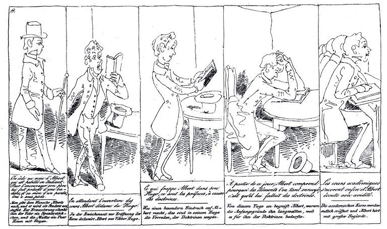 «Histoire d'Albert» par Rodolphe Töpffer.