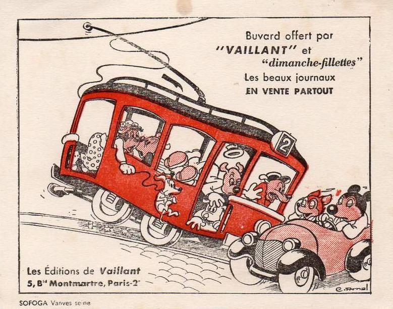 Buvard publicitaire avec un dessin d'Arnal.