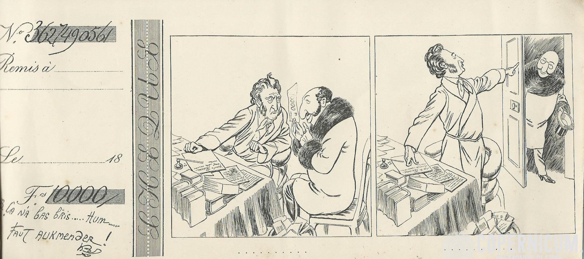 «Carnet de chèques» par Caran d'Ache.
