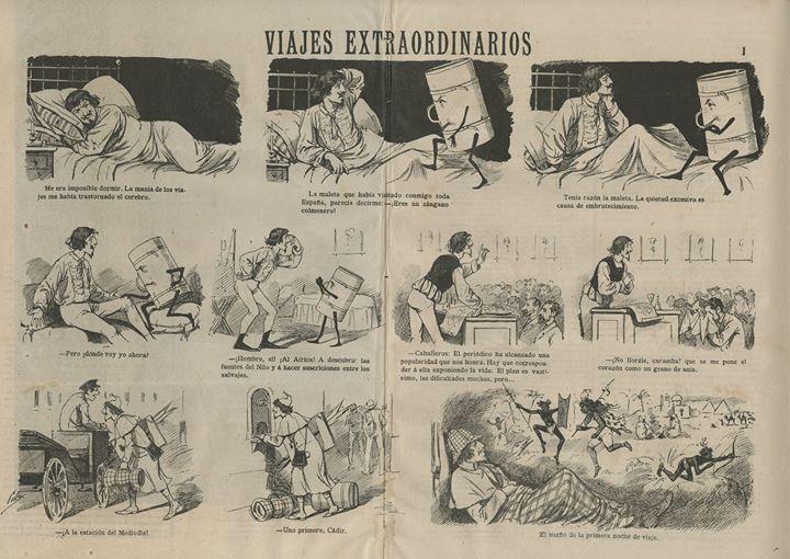 « Viajes Extraordinarios » par Francisco Ramón Cilla y Pérez.