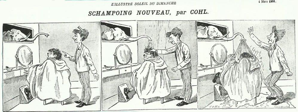 séquence dessinée par Émile Cohl, dans L'Illustré soleil du dimanche.