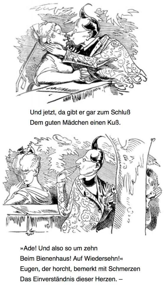 «Schnurrdiburr oder die Bienen» par Wilhelm Busch.