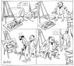Une histoire muette par Godefroy, dans La Caricature.