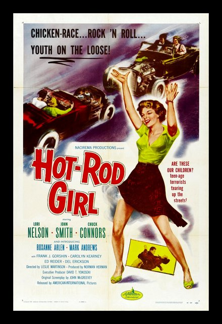 Les sources d'inspiration : affiche de Hot-Rod Girl (1956)