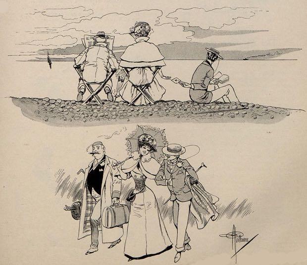Une histoire muette en images par Albert Guillaume, dans Le Rire.