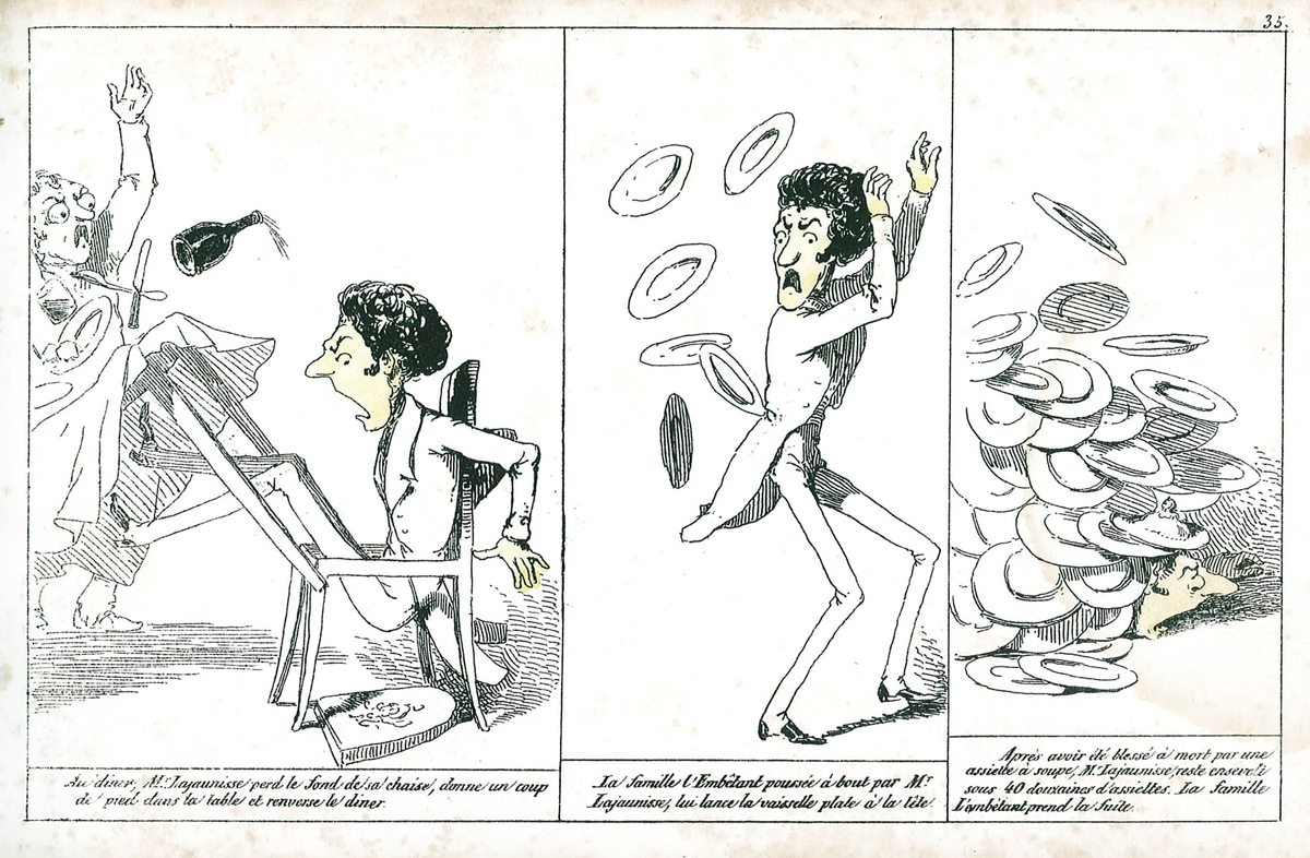 « Histoire de Mr Lajaunisse » par Cham.