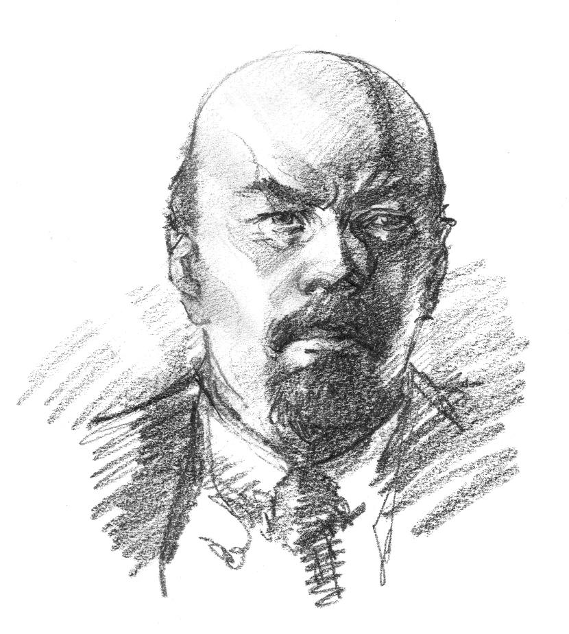 Portrait de Lénine par D. Rodier
