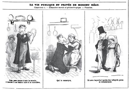« La Vie publique et privée de Mossieu Réac » par Nadar.