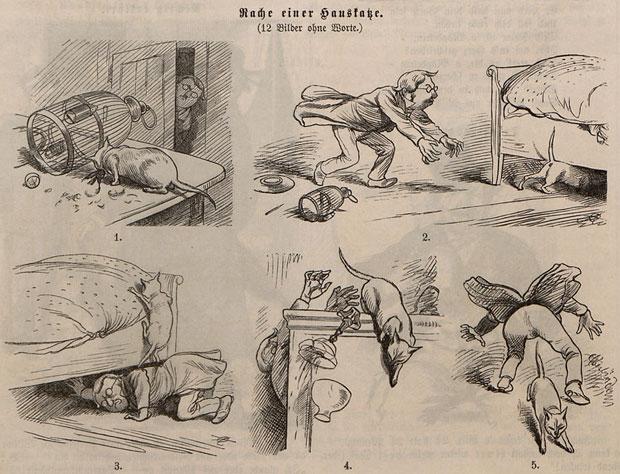 Une bande muette d'Adolf Oberländer dans Fliegende Blätter.
