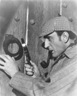 """Mais aussi Basil Rathbone, qui joue dans la version 1939 du """"Chien des Baskerville"""" et interprète Holmes dans 13 autres films."""