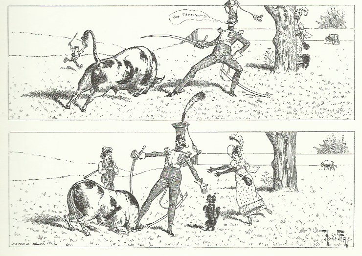 Une histoires par Henri de Sta publiée dans Le Chat noir.
