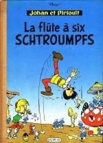 Édition originale de « La Flûte à six Schtroumpfs » publiée chez Dupuis, en 1960.