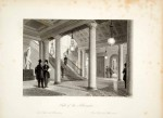 Hall d'entrée du club Athenaeum à Londres, par William Radclyffe  (gravure de 1845)