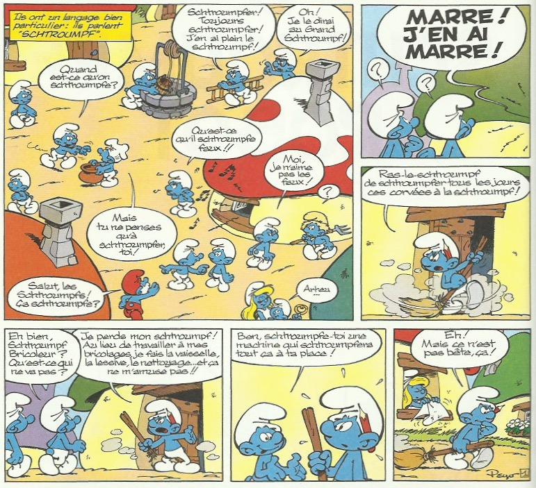 « Le Schtroumpf robot ».
