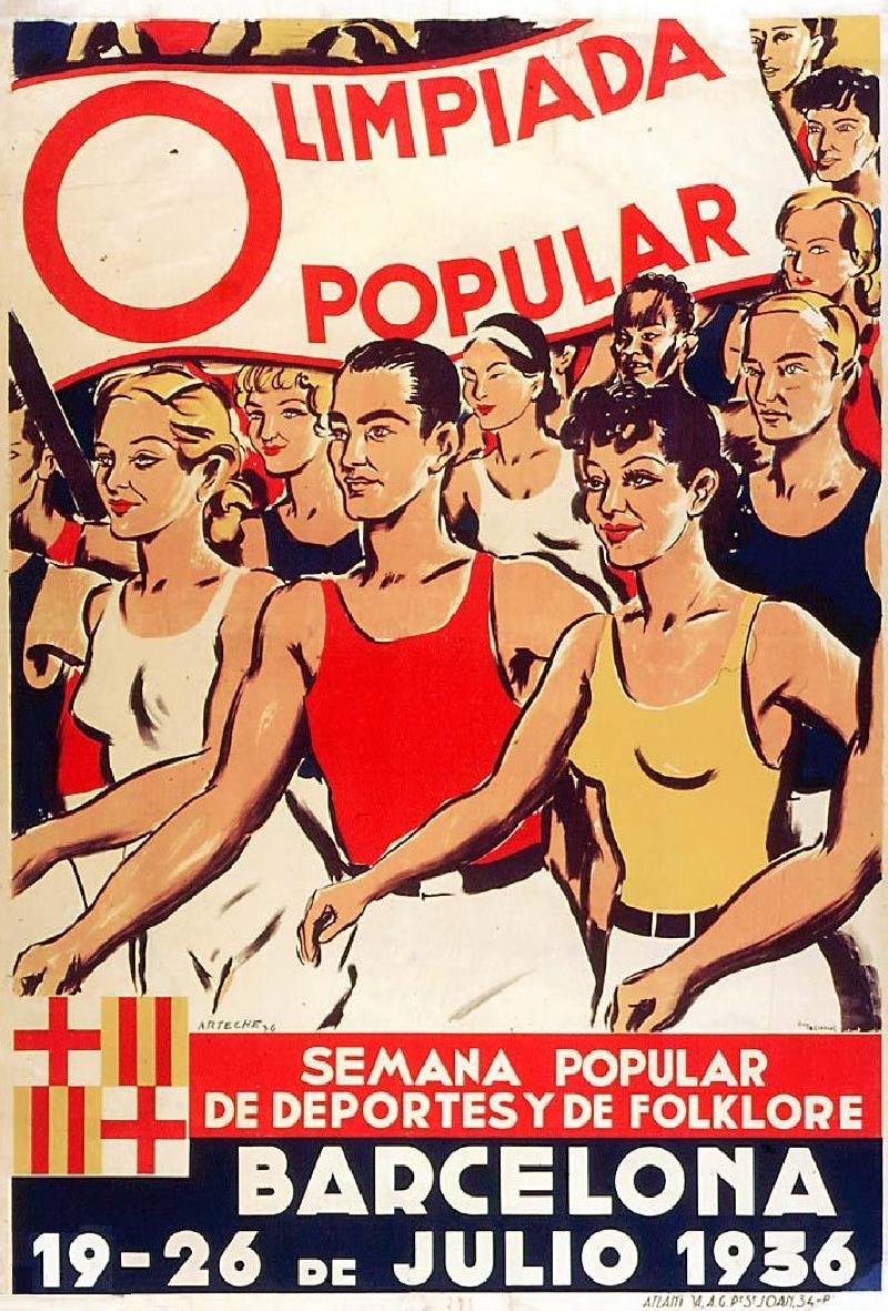 Affiche pour les Olympiades populaires de Barcelone