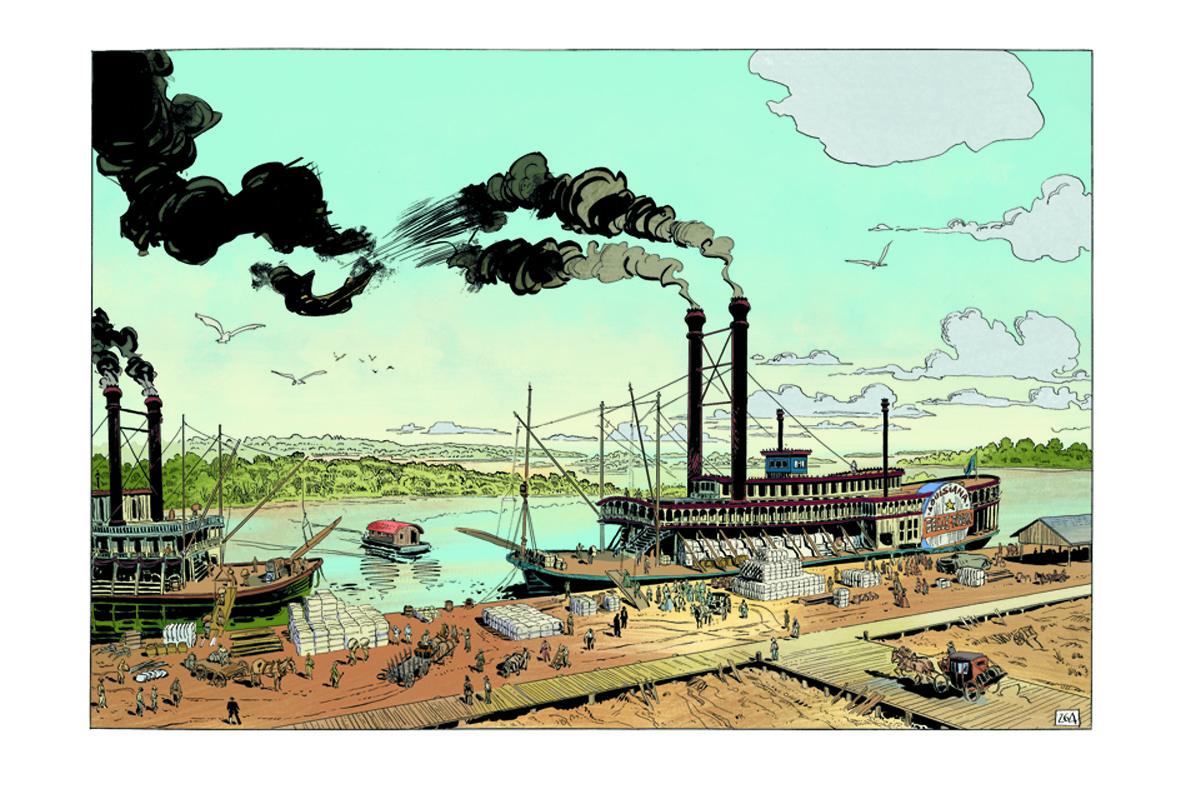 Un bateau à vapeur sur le Mississippi : l'unique moyen de relier le Nord et le Sud