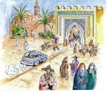 Desin de couverture de « BD Maroc » par Jean Gabel.