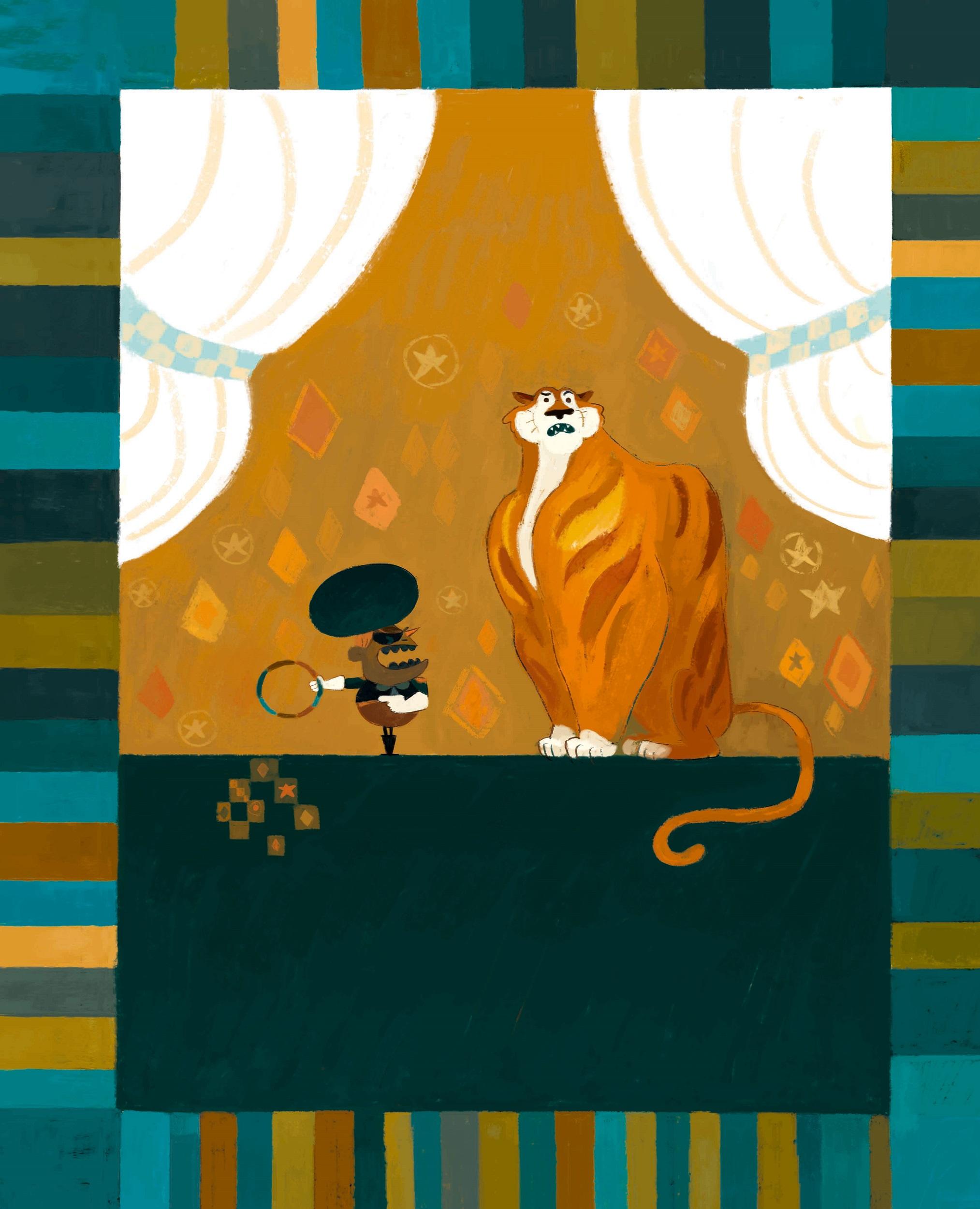 Quand le cirque est venu : George Poutche et le tigre