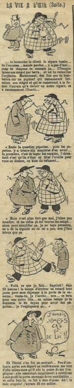 L'une des histoires en images illustrées par André Buguet.