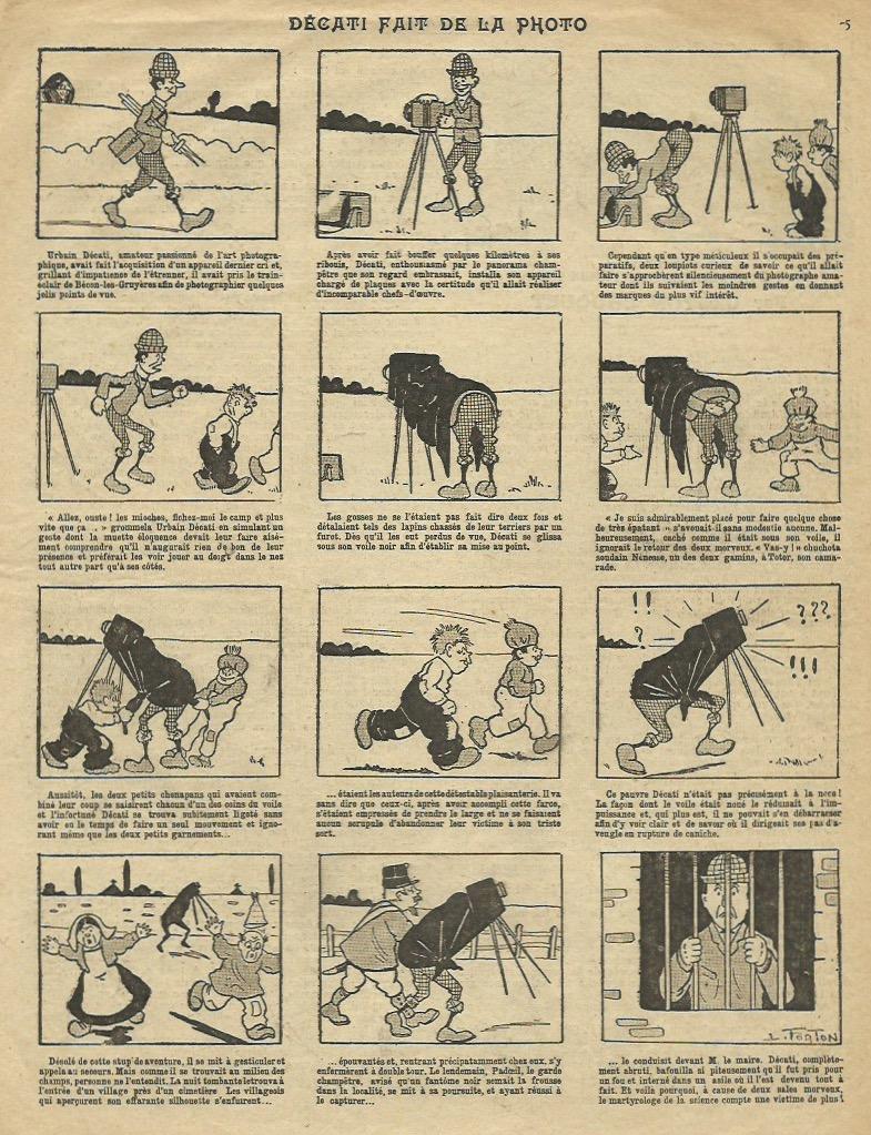 L'une des histoires en images illustrées par Louis Forton.
