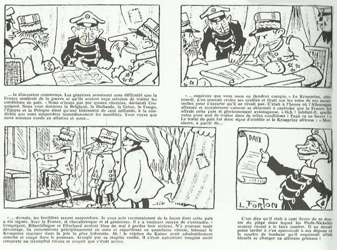 « Les Pieds nickelés chez le Kaiser ».