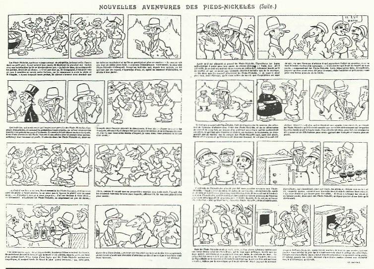 les planches dessinées par Tybalt dans les n° 557 et 558 de L'Épatant.