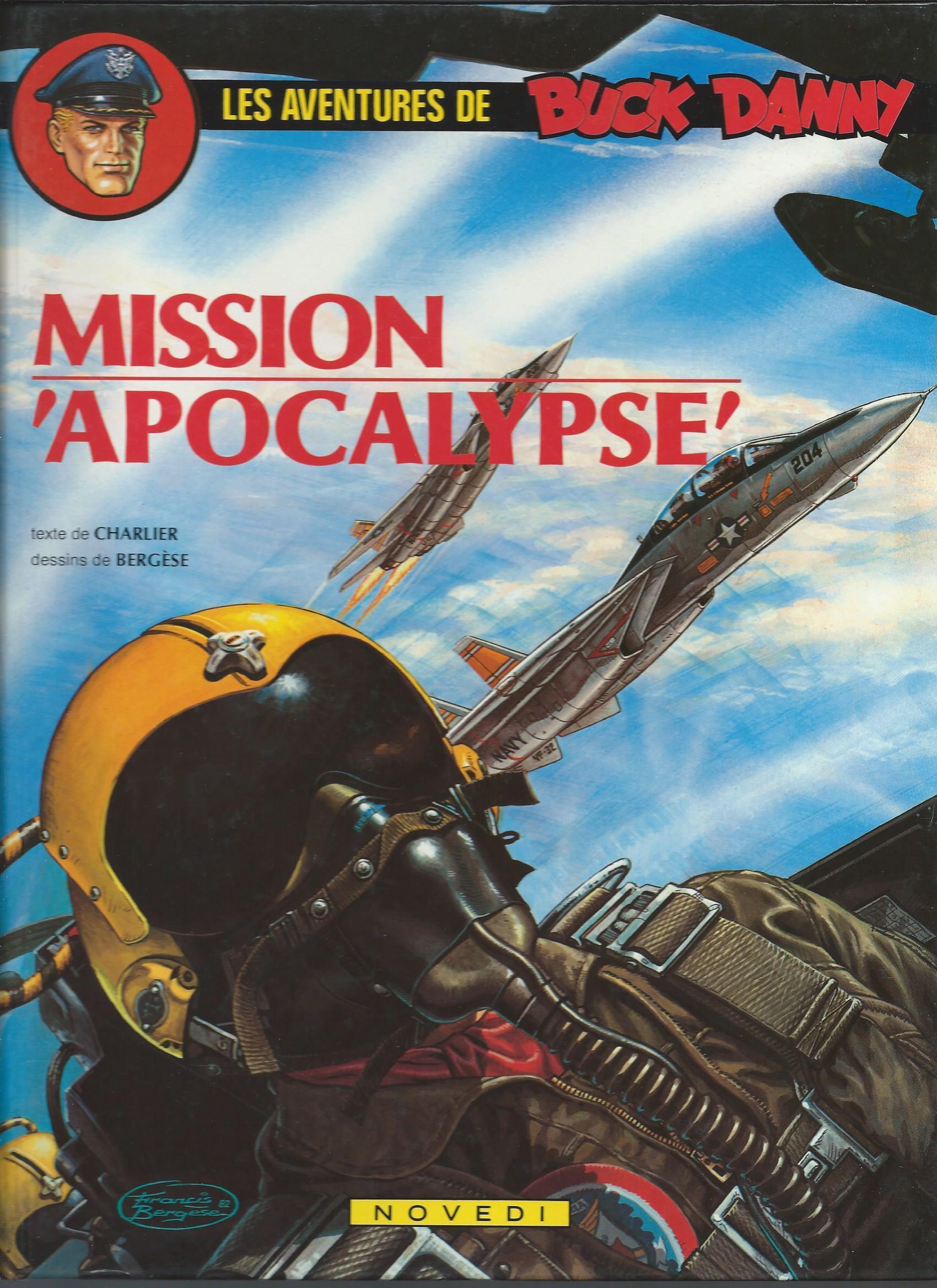 Couverture et encrage de la planche 4 pour Mission Apocalypse (Charlier/Bergèse, 1983)
