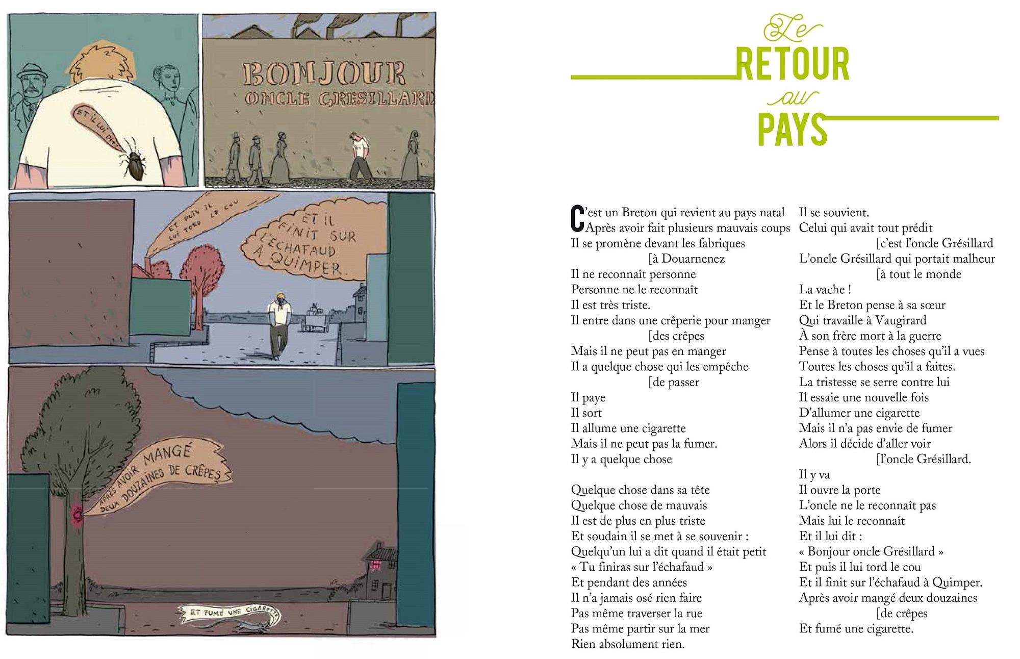 Retour au pays, poème de Jacques Prévert