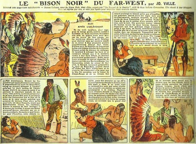 "« Le ""Bison noir"" du Far-West » par René Giffey et Jo Valle."